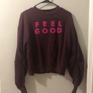 """Maroon """"Feel Good"""" Sweater"""